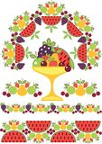 Pattern of fruit Stock Photos