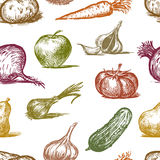 Pattern of a fruit and vegetables Stock Photography