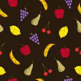 Pattern fruits Stock Photos