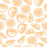 Pattern with fruits Stock Photo