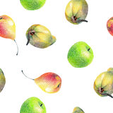 Pattern with fruits Stock Images