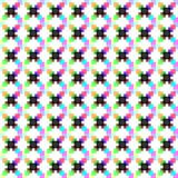 Pattern of full-color pixel dots. Pattern with appropriate shape of box and color suitable for printing in fabric or paper and also other materials vector illustration