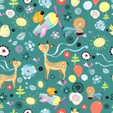 Pattern of funny animals Royalty Free Stock Image