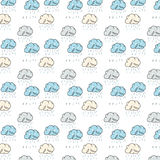 Pattern with funny colorful clouds Stock Photos