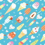 A pattern of funny ice cream Royalty Free Stock Photo