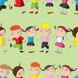 Pattern with funny kids. Stock Photography