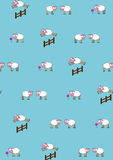Pattern. Funny little sheep Royalty Free Stock Images