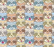 The pattern of funny raccoons. Seamless pattern of funny raccoons with different emotions Royalty Free Stock Photos
