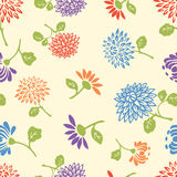 Pattern of the garden flowers Royalty Free Stock Photography