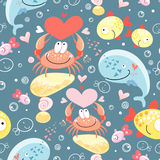 Pattern of gay marine animals Royalty Free Stock Photography