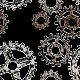 Pattern of the gear wheels Royalty Free Stock Photo