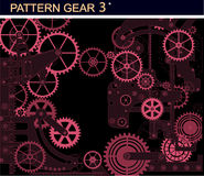 Pattern gear3 Royalty Free Stock Image