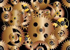 Pattern from gears Royalty Free Stock Photography