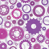 Pattern with gears Stock Images