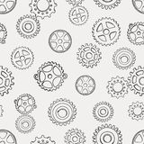 Pattern with gears Royalty Free Stock Photography