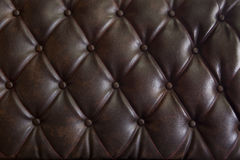 Pattern of genuine leather upholstery. Pattern of brown genuine leather upholstery Royalty Free Stock Image