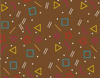 Pattern Geometric Background texture brown,abstract background brown. Design Royalty Free Stock Photography