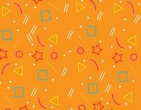 Pattern Geometric Background texture Orange. Design Stock Images