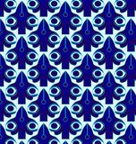 Pattern geometric blue. Pattern seamless geometric pattern in blue Royalty Free Stock Photography