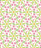 Pattern geometric floral background. Stock Photography