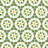 Pattern geometric floral background. Stock Images