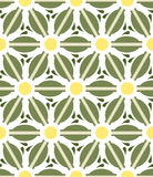 Pattern geometric floral background. Royalty Free Stock Images