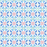 Pattern geometric floral background. Royalty Free Stock Photography