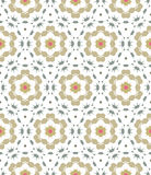 Pattern geometric floral background. Royalty Free Stock Image