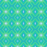 Pattern with geometric forms in mint green Royalty Free Stock Photography
