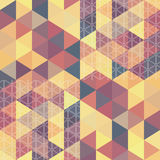 Pattern geometric hexagon. with triangles Stock Photography