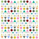Pattern geometric line art circle and triangle colorful vector. JPG and EPS file. easy to edit royalty free illustration