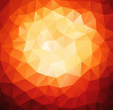Pattern of geometric shapes. Red background with triangles. Royalty Free Stock Photos