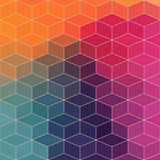 Pattern of geometric shapes, rhombic.Texture with flow of spectr Stock Photography