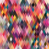 Pattern of geometric shapes, rhombic.Texture with flow of spectrum effect. Geometric background. royalty free illustration