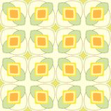Pattern with geometric shapes in 1970s style. Royalty Free Stock Photography