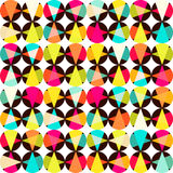 Pattern of geometric shapes.Texture with flow of spectrum effect Stock Photo