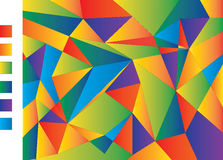 Pattern of geometric shapes. Vector illustration Royalty Free Stock Image