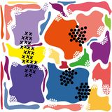 Modern abstract bright color avant garde background royalty free illustration