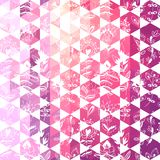 Pattern geometric with triangle and hexagon Stock Photo