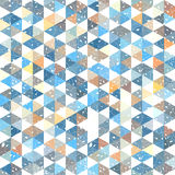 Pattern geometric with triangle and plant elements Stock Images