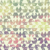 Pattern geometric with triangle and plant elements Royalty Free Stock Photography