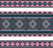 Pattern of geometrical figures. Ukrainian    folk ornament. Royalty Free Stock Photo