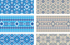 Pattern of geometrical figures. Stock Image