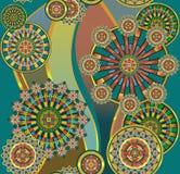 Pattern geometrical. Seamless green background , geometrical pattern Stock Images