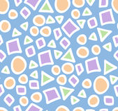 Pattern with geometrical shapes Royalty Free Stock Photos