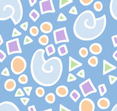 Pattern with geometrical shapes Stock Image