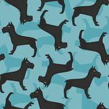 Pattern with Giant schnauzer Royalty Free Stock Images