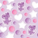 Pattern with gift boxes Royalty Free Stock Photos