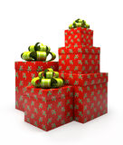Pattern gift boxes  Stock Image