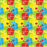 Pattern with gift boxes Stock Photo